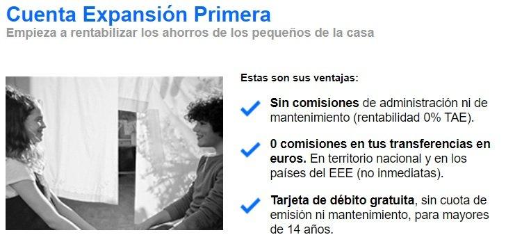 Cuenta Expansión Primera Banc Sabadell