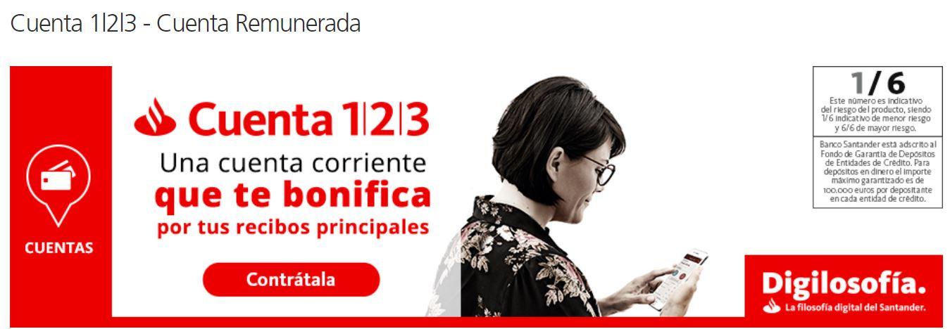 Cuenta 123 Santander