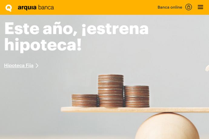 Arquia Banca página web