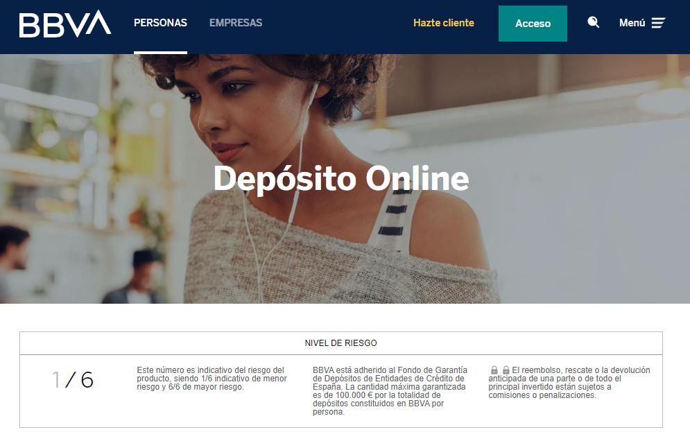 Depósito online BBVA
