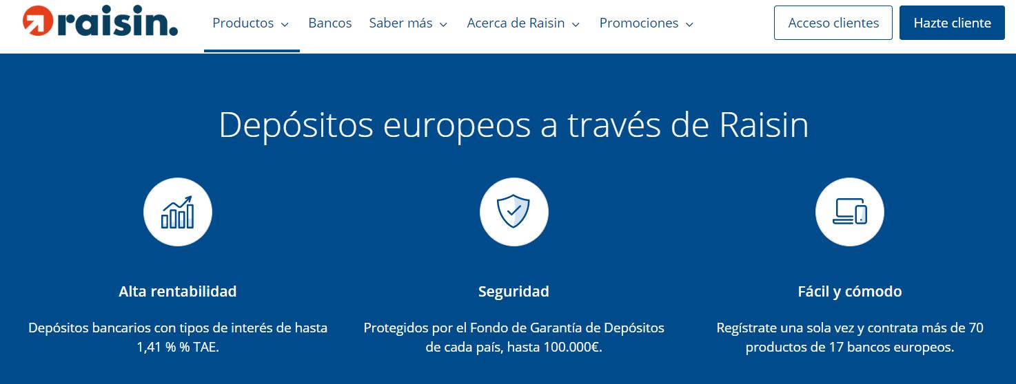 Depositos europeos Raisin