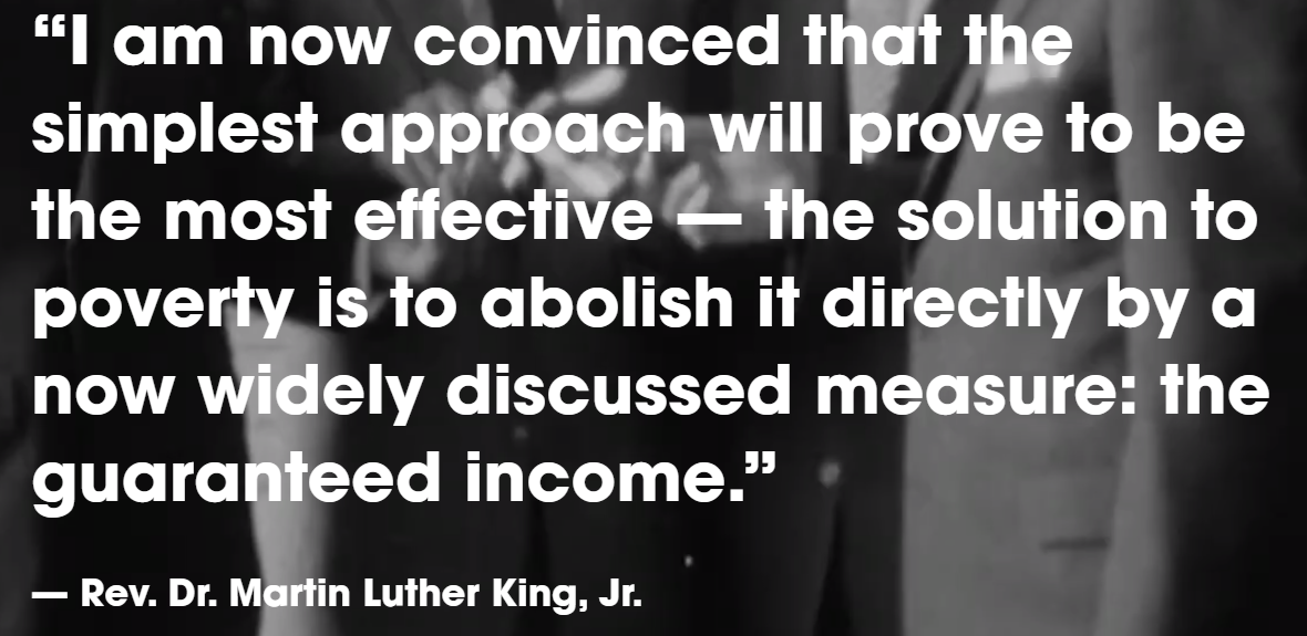 Martin Luther King on UBI