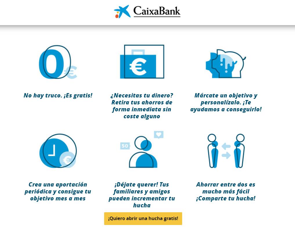 CaixaBank Mi Hucha características