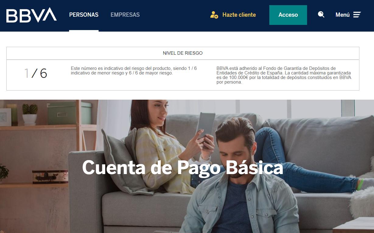 Cuenta de Pago Básica de BBVA