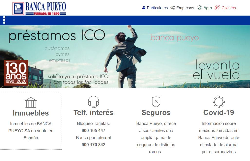 Banca Pueyo página web