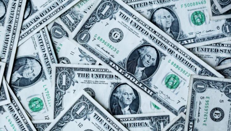 Dinero billetes de dólar