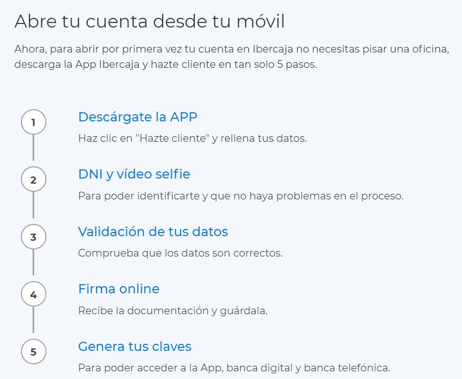 Ibercaja Directo abrir cuenta online