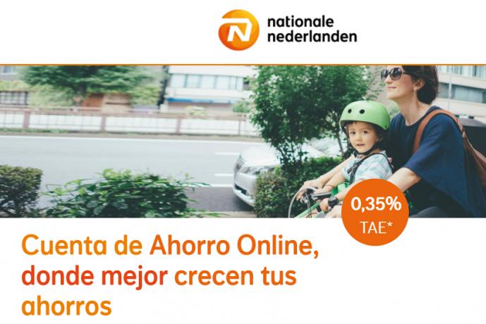 Nationale Nederlanden Cuenta de ahorro online