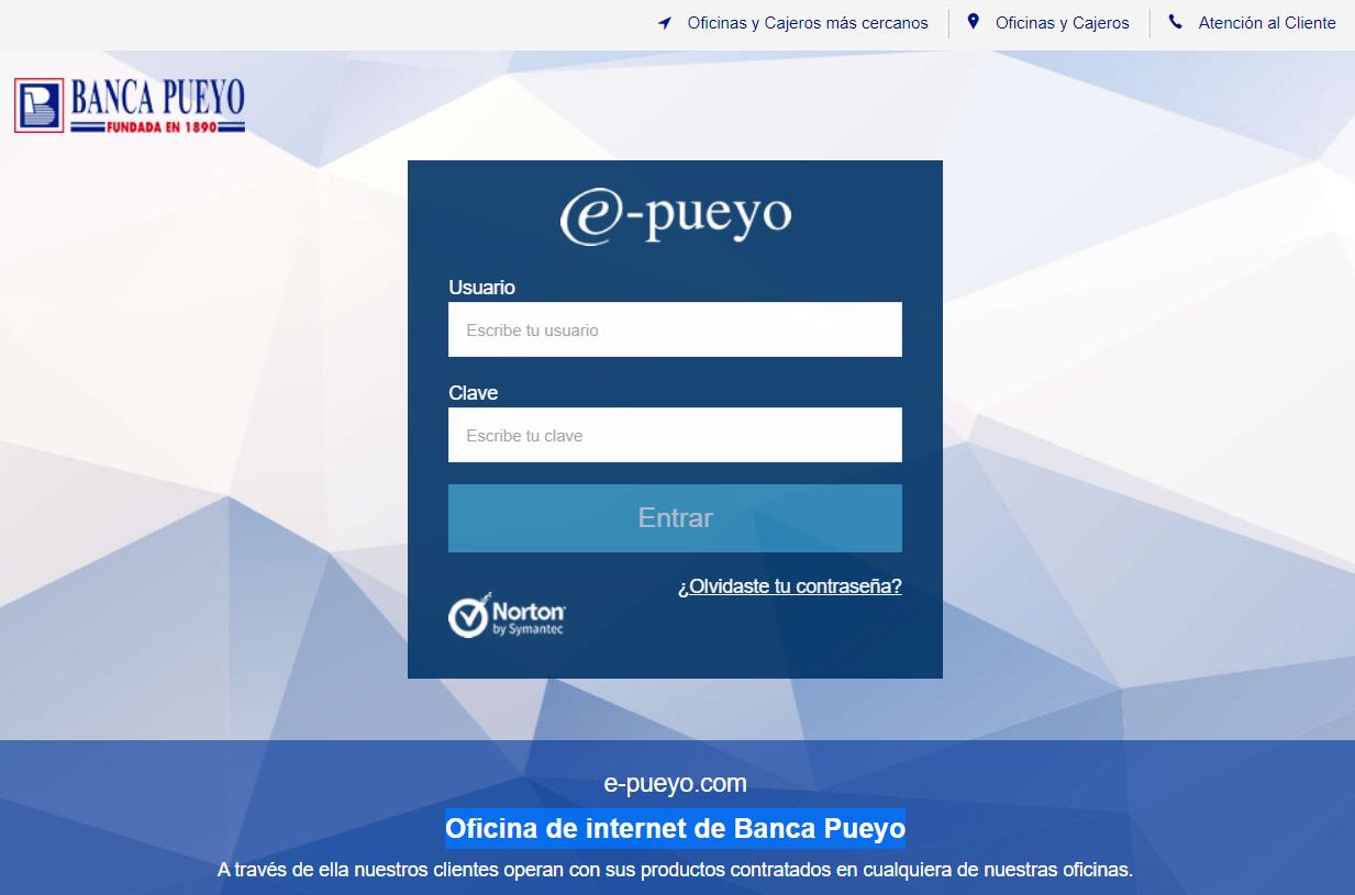 e-Pueyo banca pueyo online