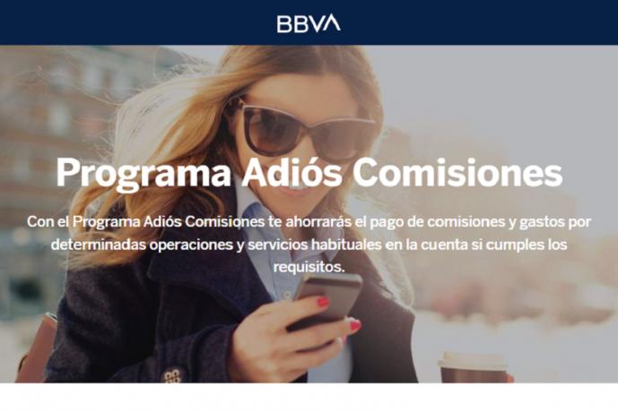 Programa Adiós comisiones BBVA