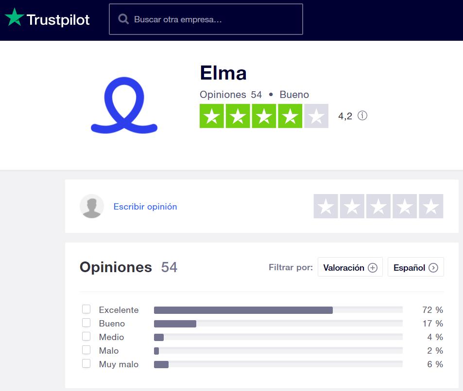 Opiniones Elma Trustpilot