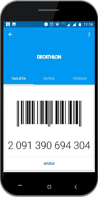 Tarjeta Decathlon