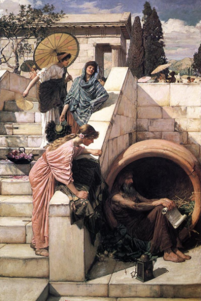 Diógenes de Sinope por John William Waterhouse 1882