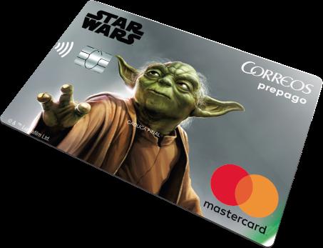 Tarjeta Prepago Correos Yoda Star Wars