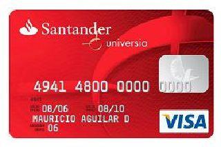 Tarjeta de débito Santander