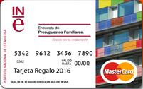 Tarjeta prepago Encuesta Presupuestos Familiares INE